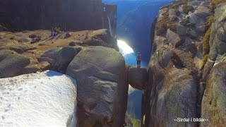 Kjerag from the air - viral drone video from Norway (100 million views on Facebook)(The drone video