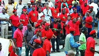 EFF AND ANC Supporters battle on Unisa Grounds