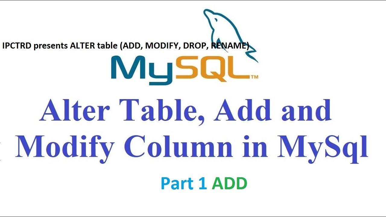 How To Add Singlemultiple Column On Mysql Using Alter Command