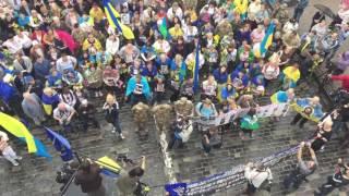 Марш нескорених: на Аллее Небесной сотни - под тысячу человек