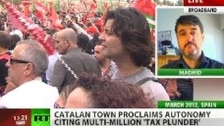Catalonia town proclaims autonomy, cites