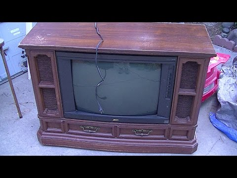 Zenith Floor Console Television from 1997 - YouTube