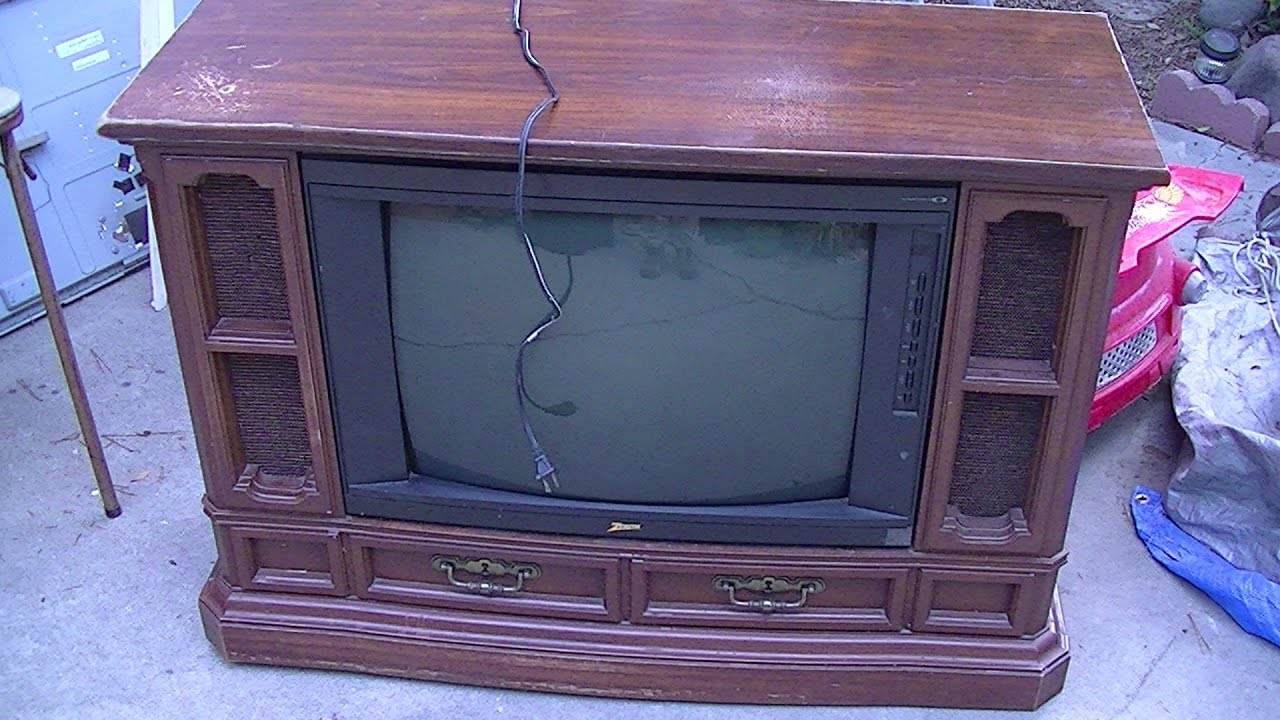 Zenith floor console television from youtube