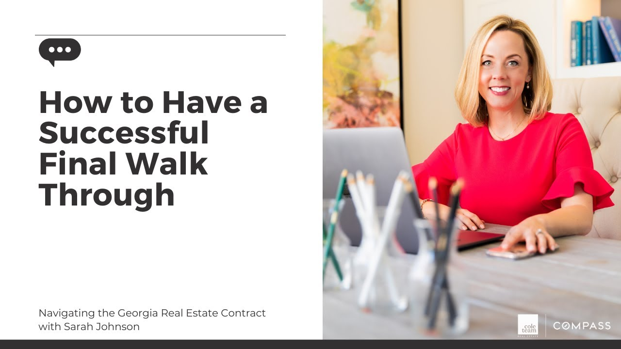 How to have a successful final walk through when you're buying a home