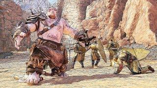 SHADOW OF WAR - UNIQUE BARANOR REINFORCE & AMBUSH CAPTURE THE OUTPOST IN DESERT