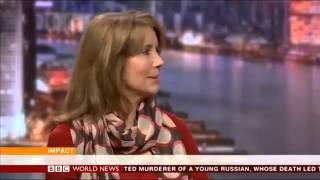 Kristiane Backer on BBC World News   talking about islam