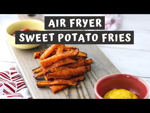 AIR FRYER SWEET POTATO FRIES RECIPE | Keeping It Relle