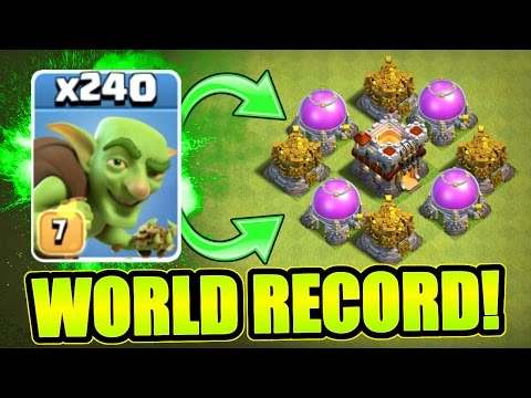 "Thumbnail: CLASH OF CLANS ""WEIRDEST WORLD RECORD EVER!!"""