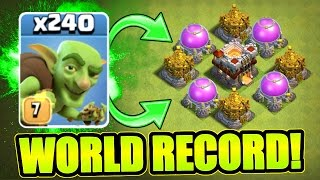 "CLASH OF CLANS ""WEIRDEST WORLD RECORD EVER!!"""