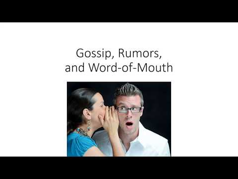 Gossip and Rumors in the Workplace