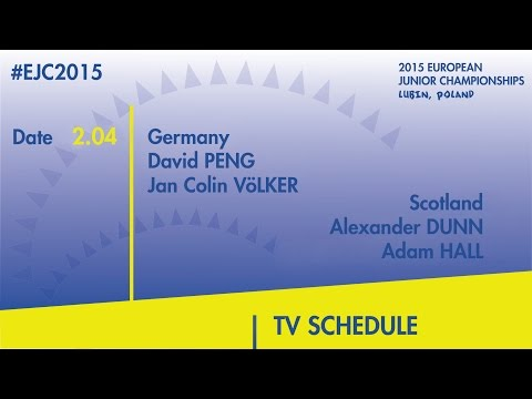 D.Peng/J.C.Volker(GER) VS. A.Dunn/A.Hall(SCO) #EJC2015 Lubin, Poland