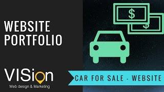 Website Portfolio - Car for Sale - WIX web design