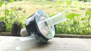 DIY - Cara Membuat Pompa Air Mini Dengan Dinamo 12v   How to make Powerful Water Pump