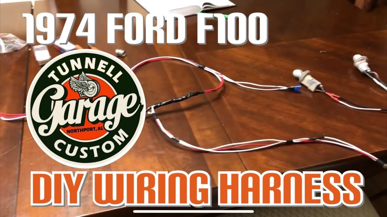 hight resolution of video 75 1974 ford f100 restoration remake wiring harness rear