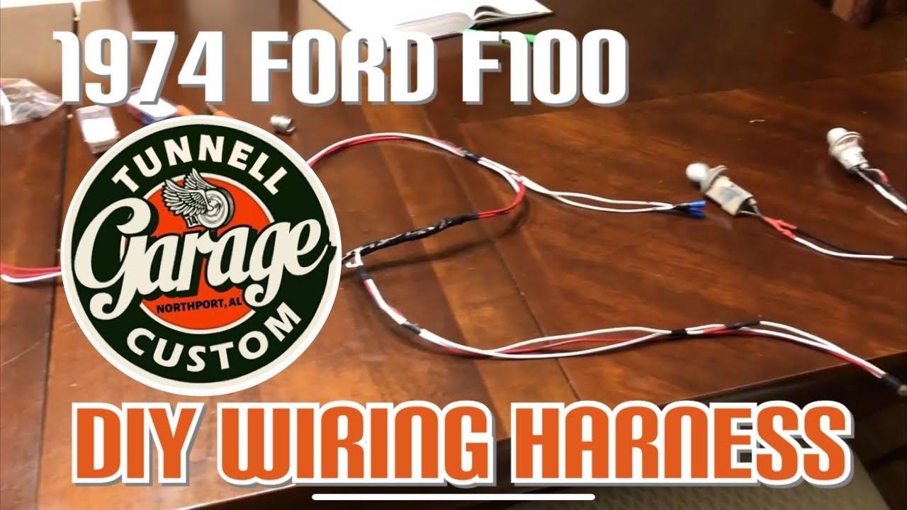 medium resolution of video 75 1974 ford f100 restoration remake wiring harness rear