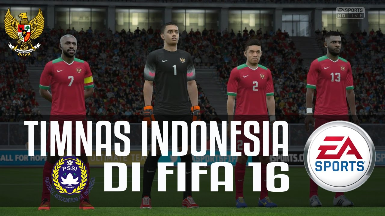 TIMNAS INDONESIA DI FIFA 16 PC!  YouTube