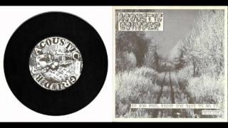 """ACOUSTIC GRINDER - split 7"""" w/ TURMOIL 1994"""