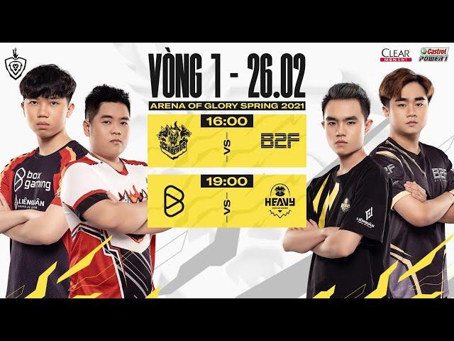 CES vs B2F | BOX vs HEV - Vòng 1 ngày 2 | ĐTDV mùa Xuân 2021