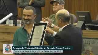 Sessão Solene - João Souza Santos - 2019