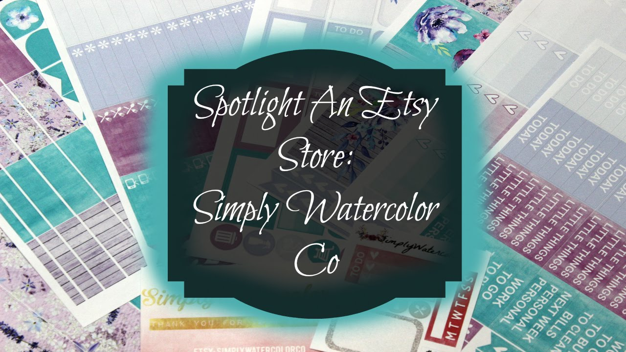SimplyWatercolorCo  Etsycom