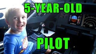 5-Year-Old Airplane Pilot
