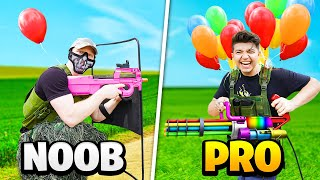 NOOB vs PRO BATTLE ROYALE AIRSOFT CHALLENGE!