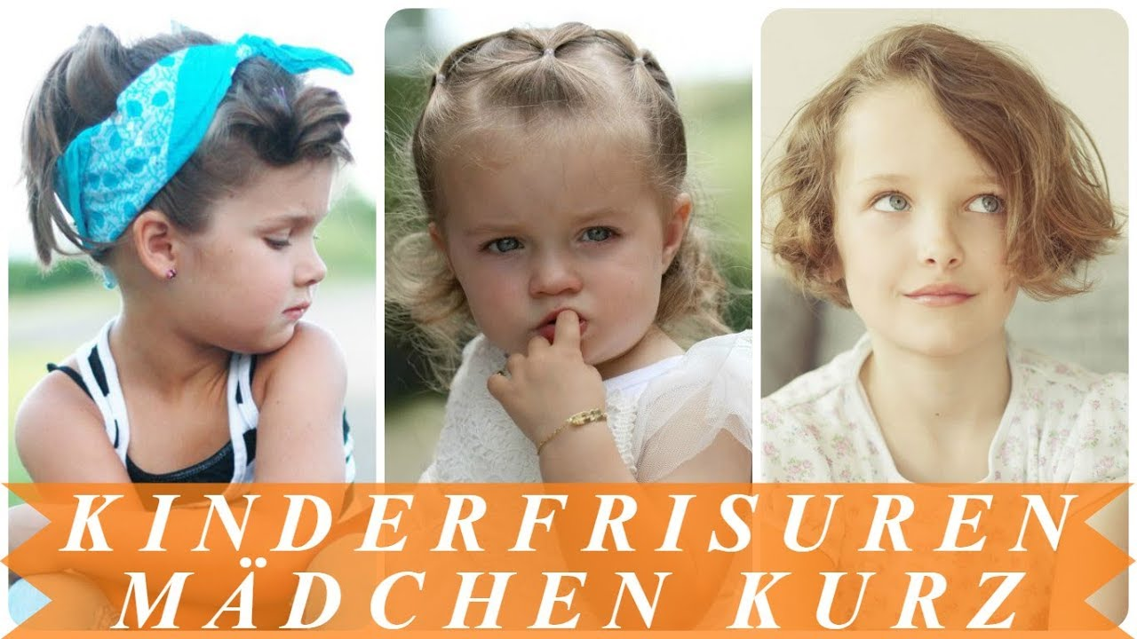 Schicke Kommunion Kinderfrisuren Kurze Haare Youtube