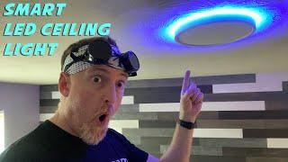 Installing a smart LED ceiling light (by Taloya) Room Reno Part 2