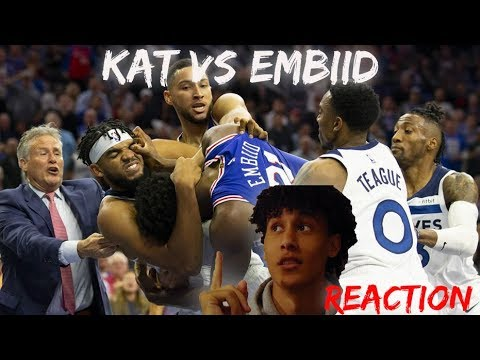 Download KARL ANTHONY-TOWNS AND JOEL EMBIID THROW HANDS | REACTION [HD]