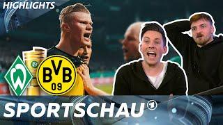 Highlights Werder Bremen - Borussia Dortmund mit Manu Thiele und ViscaBarca   DFB-Pokal   Sportschau