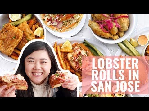 BEST SEAFOOD IN SAN JOSE! Lobster Rolls, Fish & Chips And More!