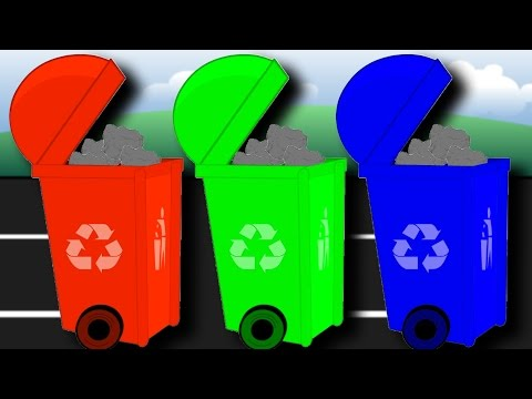 Learn Colours with Garbage Trucks | Learn Colors for Toddlers |  Fun Educational Videos