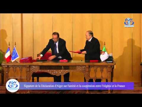 Beau geste de la part de Mr le président Bouteflika et le visage rouge de Mr François