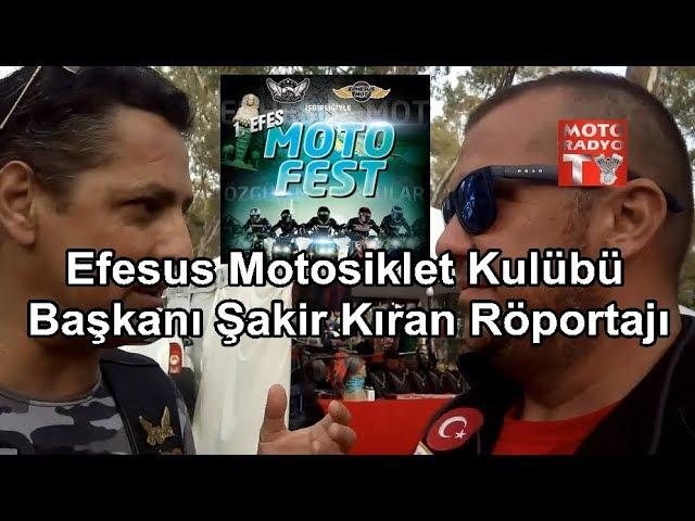1. Efes Motofest - Efesus Motosiklet Kulübü Bşk Şakir Kıran Röp