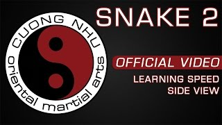 Cuong Nhu Snake 2 - Official Kata - Learning Speed - Side View
