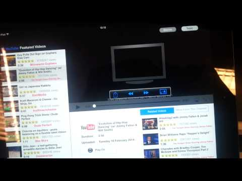 Demonstration of background audio option in Toshiba TV Media Player HD app