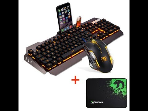 680c976d82a Wired LED Backlit Multimedia Ergonomic Usb Gaming Keyboard Mouse Combo
