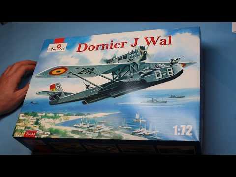Amodel 1/72 Dornier Wal in box review