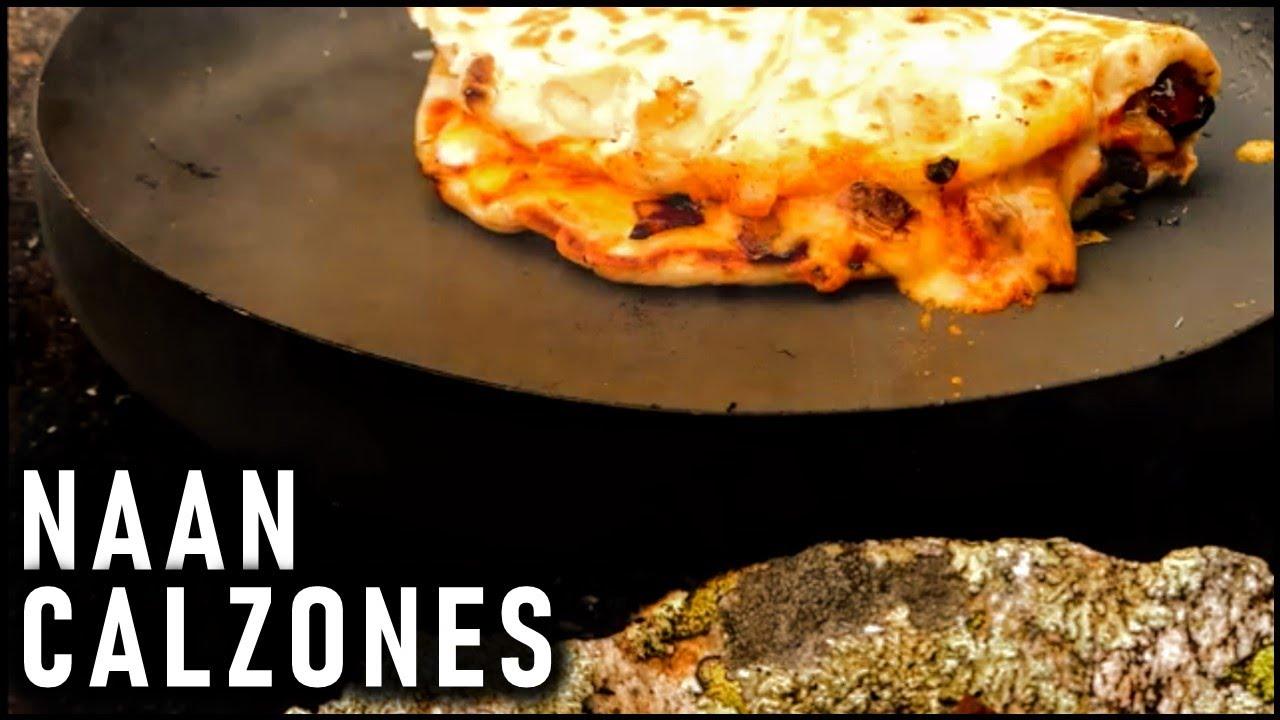 Easy Camping Meal - Naan Calzones