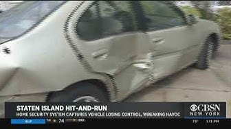 Home Security System Captures Vehicle Losing Control On Staten Island
