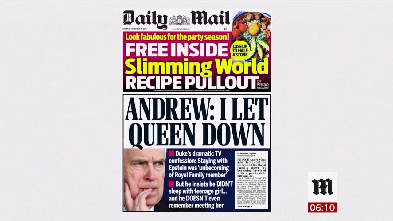 Prince Andrew Finally Speaks About Jeffrey Epstein Uk Usa Bbc