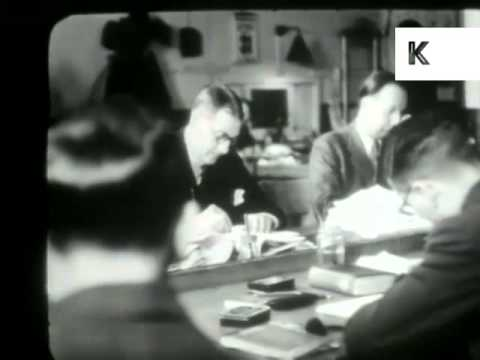 1930s UK Newspaper Offices, Journalists at Work, Rare Archive Footage