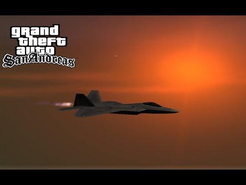 GTA San Andreas F-22 Raptor Gameplay
