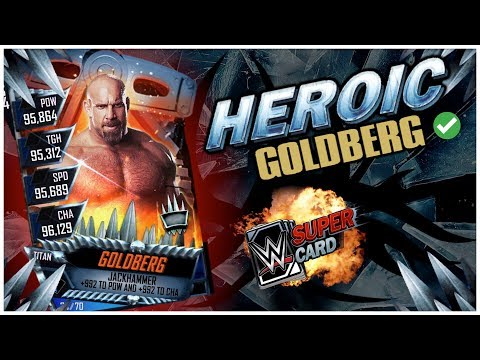 HEROIC GOLDBERG ACQUIRED & NEW MITB+FUSION CARDS | WWE SuperCard