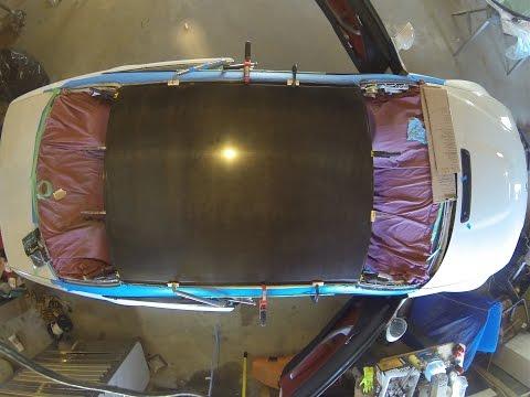 E46 M3 Carbon Fiber Roof Install Time Lapse