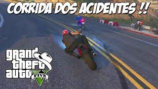 GTA 5 Online (PS4) - Corrida Moto GP: Muitos acidentes e trolei a Dani !?