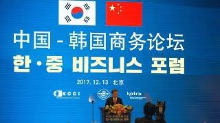 S Korean president, Chinese vice premier attend Beijing business forum