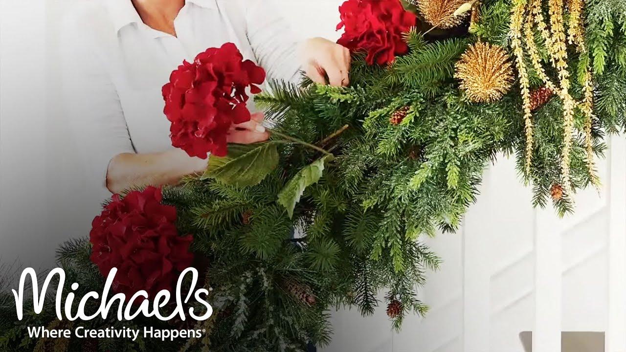 christmas banister ideas michaels - Michaels Christmas Garland