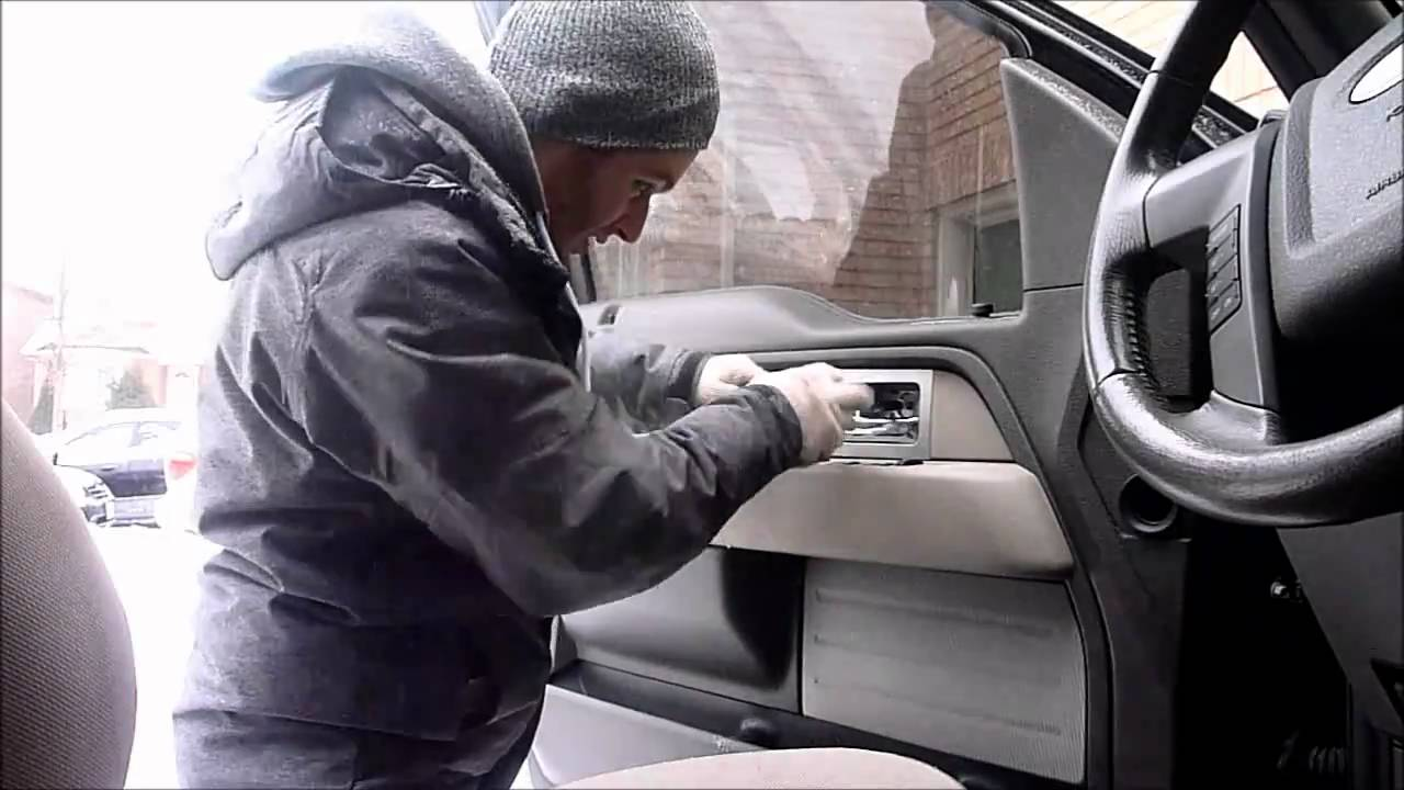 2010 F 150 Door Panel Removal Speaker Install Youtube