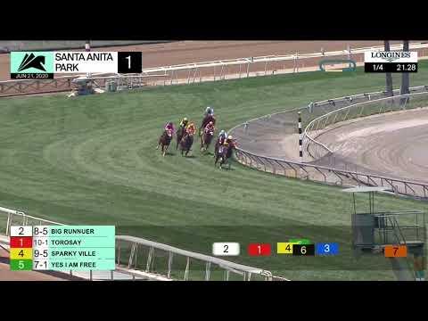Santa Anita Park Carrera 1 (The Siren Lure Stakes) - 21 De Junio 2020